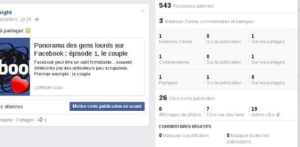 Facebook statistiques rapides pages