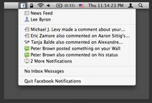 Facebook Mac notifications