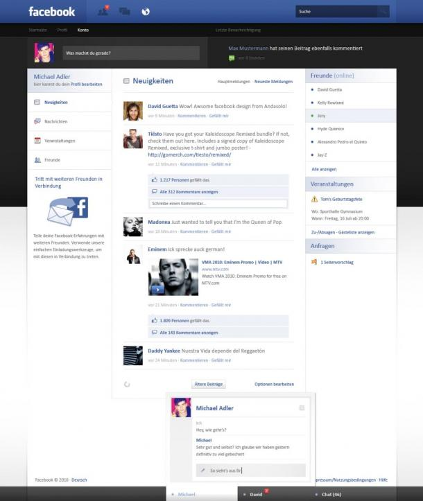 Facebook Redesign par andasoloarts