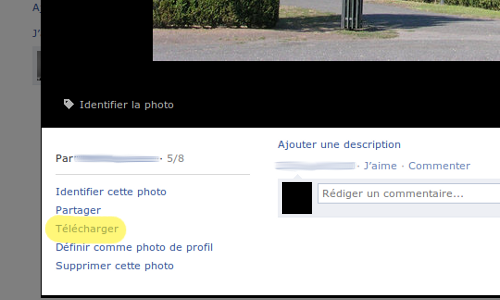 Facebook télécharger photos