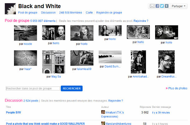 Flickr groupes