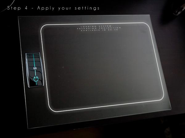 Concept d'interface tactile