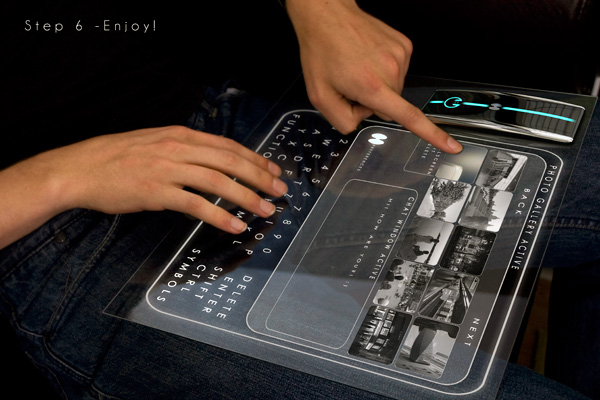 Concept d'interface tactile