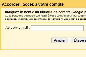 Gmail déléguer compte