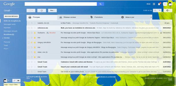Gmail thème lieu