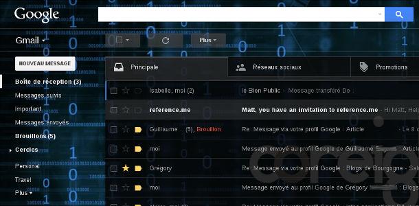 Gmail thème personnalisé