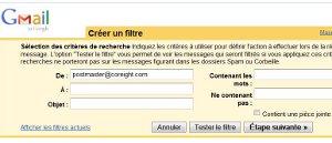 Gmail filtres