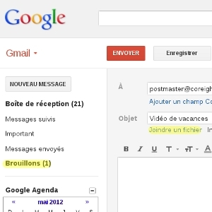 Gmail stockage fichiers