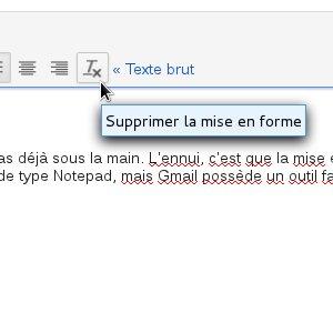 Gmail mise en forme texte