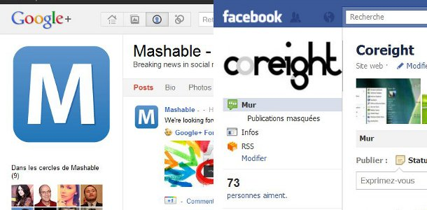 Google+ VS Facebook design