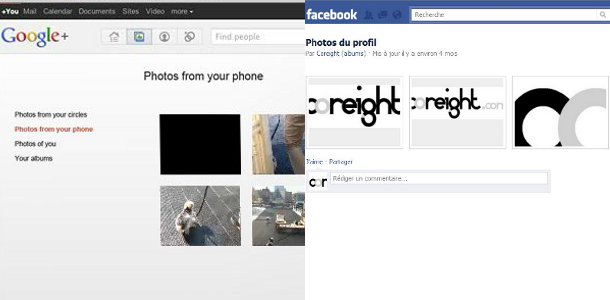Google+ VS Facebook photos