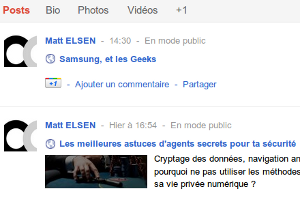 Google+ posts