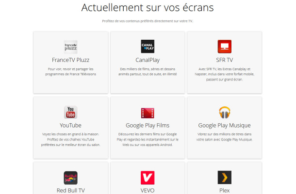 Google Chromecast applications