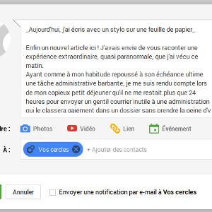 Google+ blog