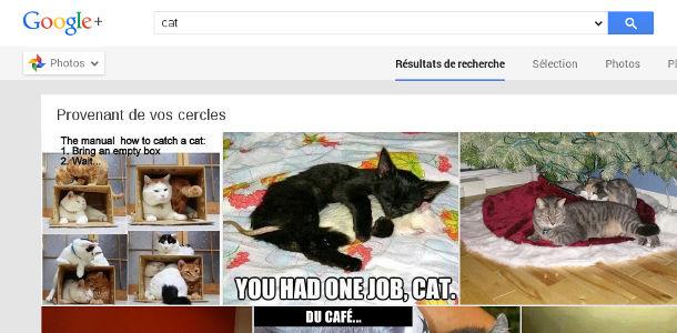 Google+ recherche image