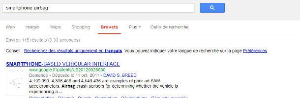 Google recherche brevets