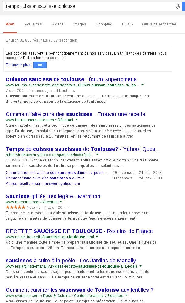 google recherche exemple