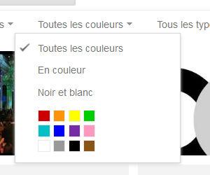 Recherche Google image filtre couleur