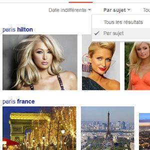 Google recherche d'images tri par sujet