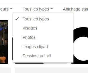 Recherche Google image filtre type