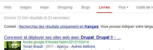 Google recherche livres