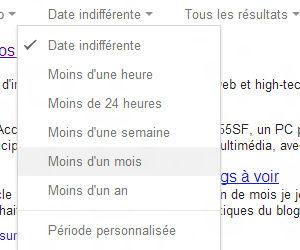 Recherche Google filtre date