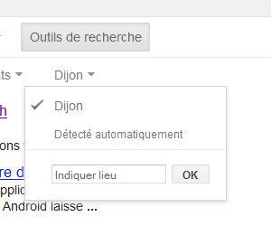 Recherche Google filtre lieu