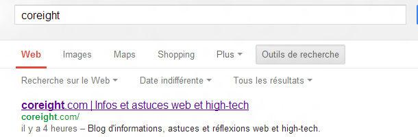 Google outils de recherche