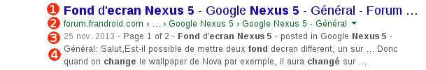 Google analyse résultat recherche