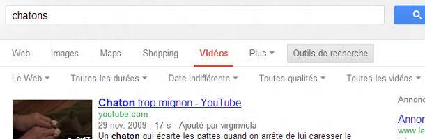 Google recherche vidéos