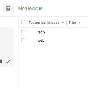 Google traduction lexique