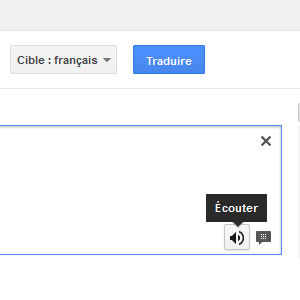 Google traduction prononciation