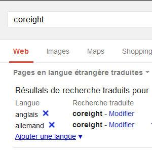 Google traduction recherche