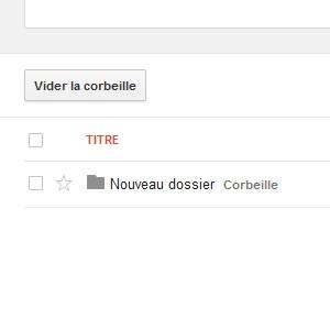 Google Drive corbeille
