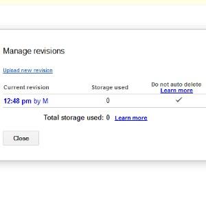 Google Drive révisions