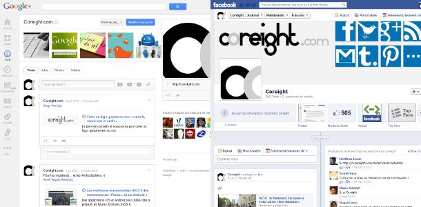 Google+ VS Facebook profil