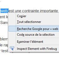 Chrome recherche clic droit