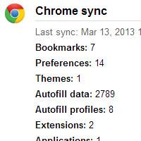 Chrome effacer synchronisation