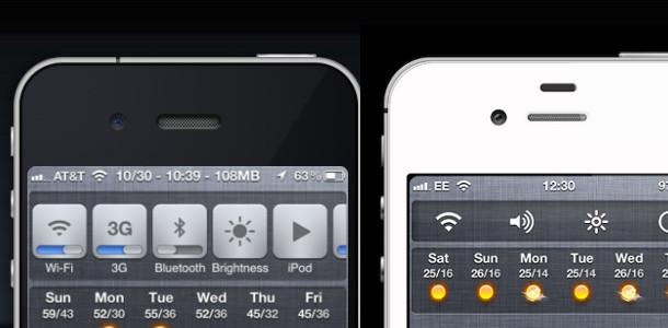 iOS 7 nouveautés centre de contrôle