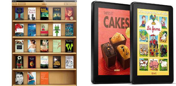iPad mini Kindle Fire liseuses numériques