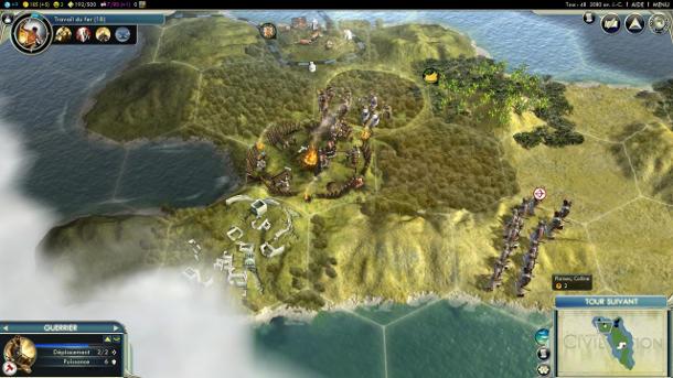 Jeux vidéo gestion ressources et commerce