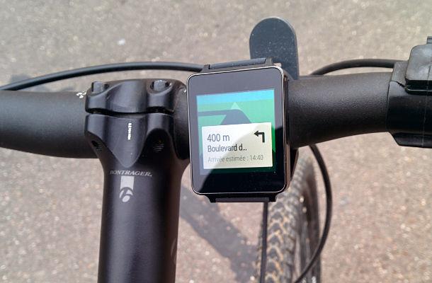 LG G watch vélo