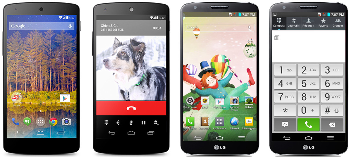 Android nu surcouche LG