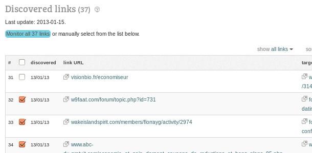 Linkody détecter liens