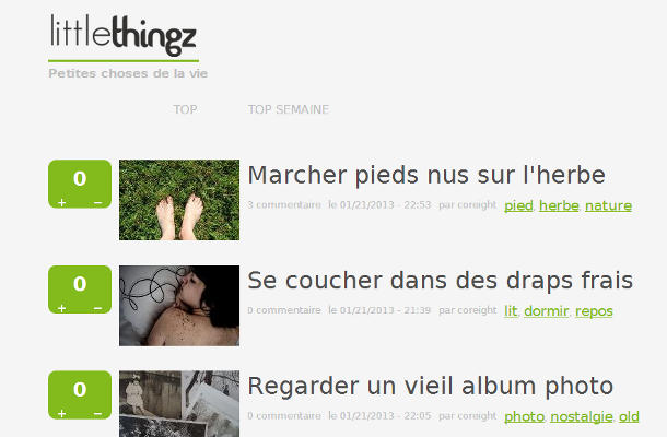 Little thingz page d'accueil