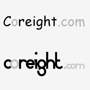Logo Coreight Comic Sans MS