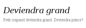 Deviendra grand