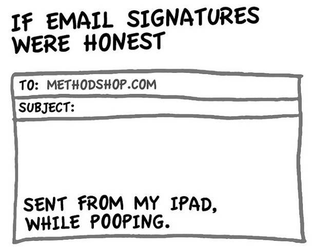 Mail honnête