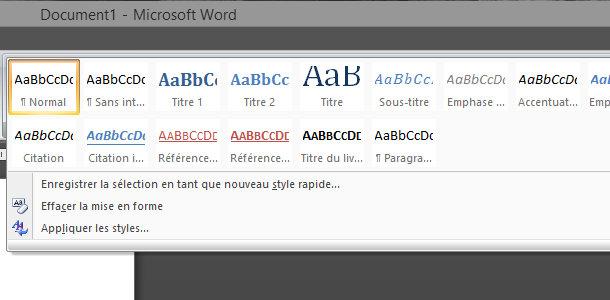Microsoft Word Styles