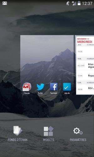 Changement fond écran mobile